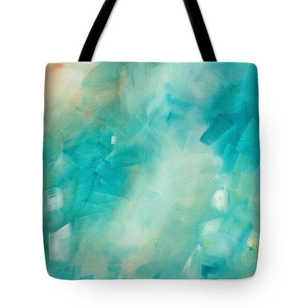 Abstract Art Colorful Bright Pastels Original Painting Spring Is Here II By Madart Tote Bag by Megan Duncanson