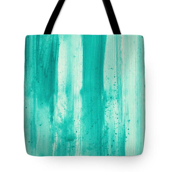 Abstract Art Original Decorative Painting Aqua Passion By Madart Tote Bag by Megan Duncanson