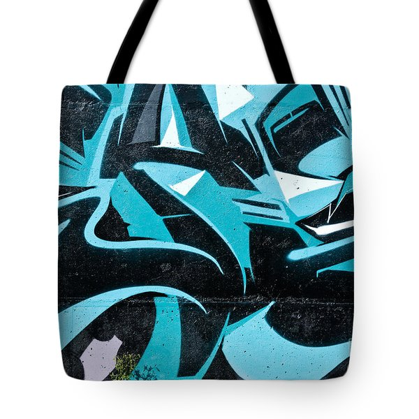 Tote Bag featuring the painting Abstract Blue by Yurix Sardinelly