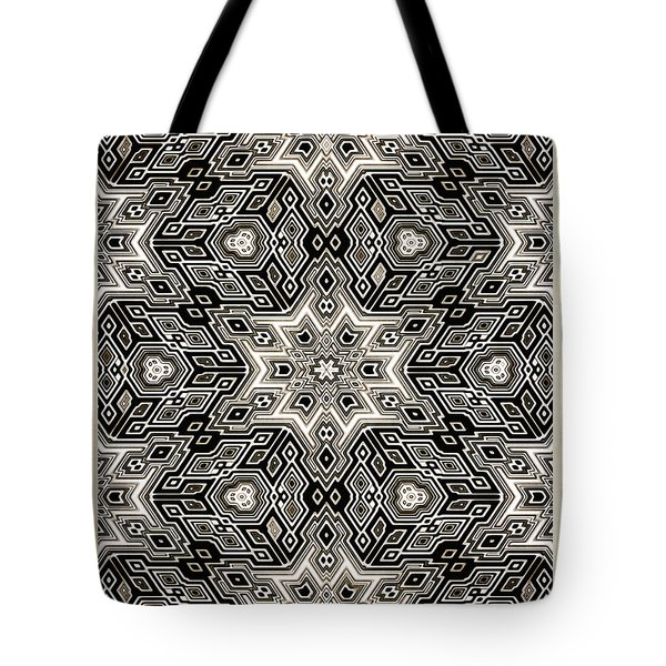 Tote Bag featuring the digital art Abstract Cubes by Susan Leggett