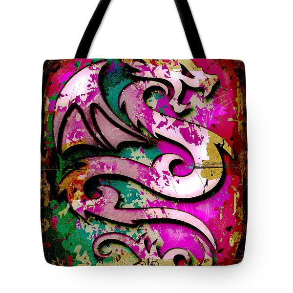 Abstract Dragon Tote Bag by David G Paul