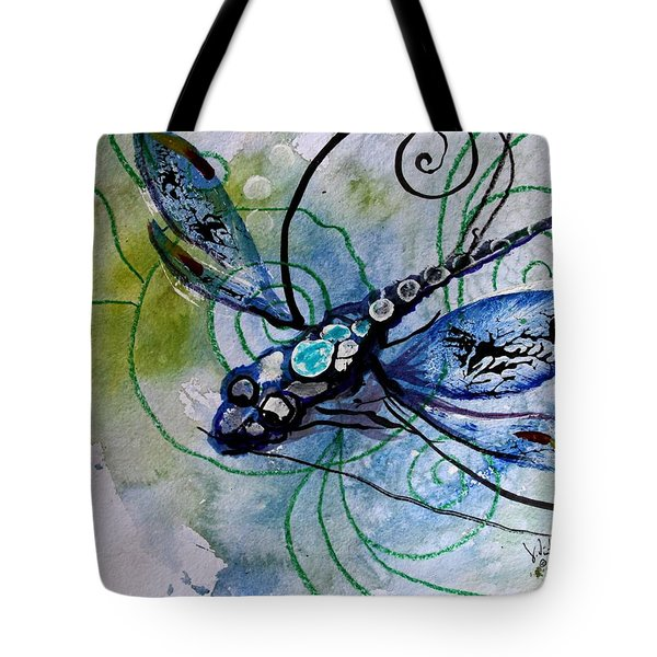 Abstract Dragonfly 10 Tote Bag by J Vincent Scarpace