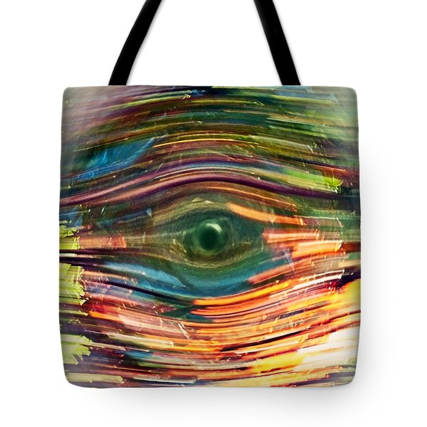 Tote Bag featuring the digital art Abstract Eye by Susan Leggett