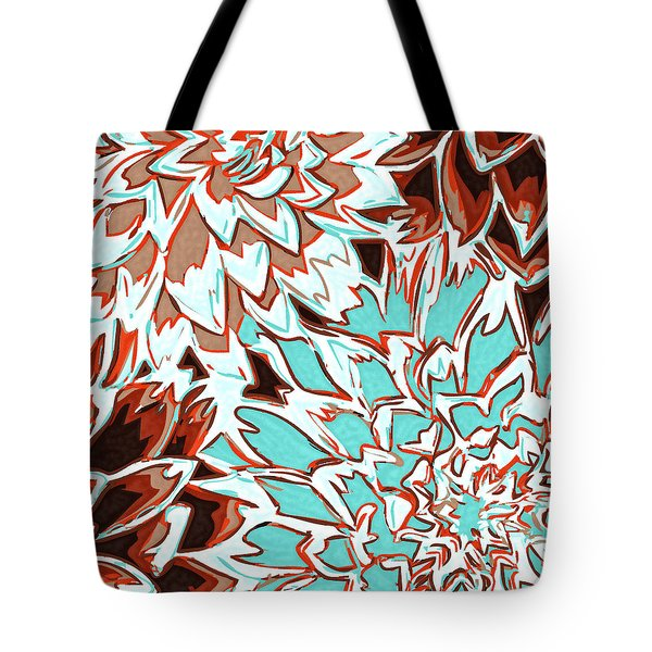 Abstract Flower 17 Tote Bag by Sumit Mehndiratta
