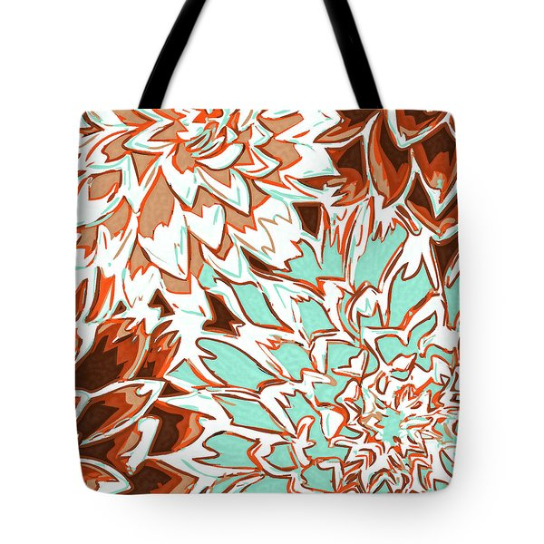 Abstract Flowers 12 Tote Bag by Sumit Mehndiratta