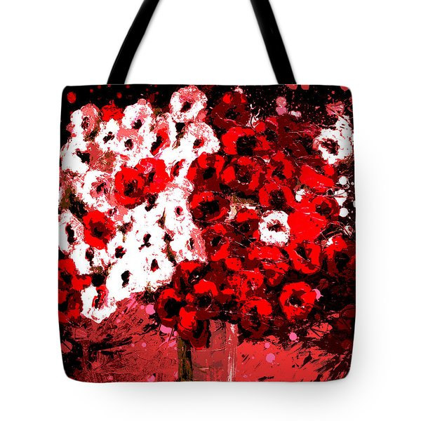 Abstract Flowers By Shawna Erback Tote Bag by Shawna Erback