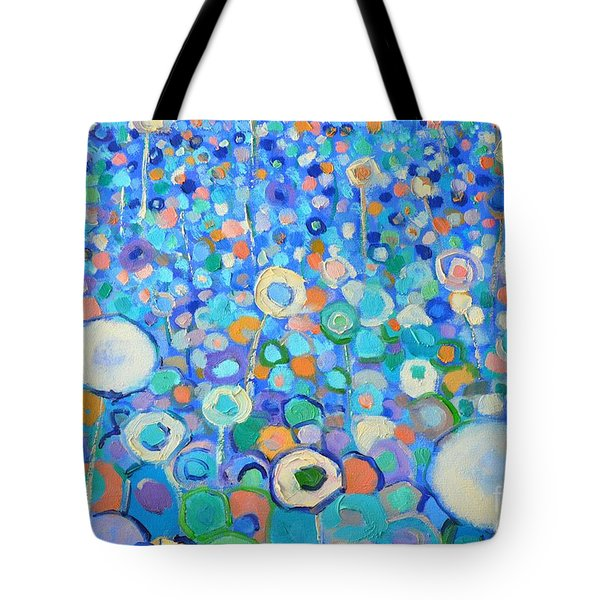 Abstract Flowers Field Tote Bag by Ana Maria Edulescu