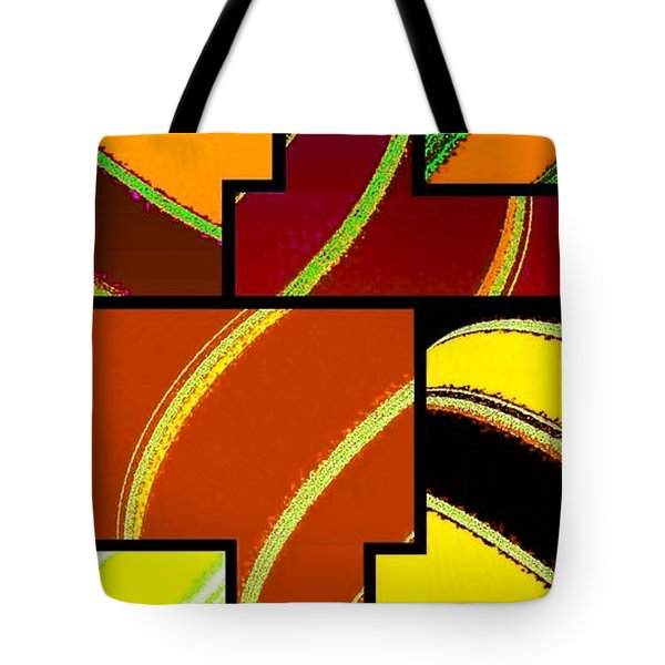 Abstract Fusion 92 Tote Bag by Will Borden