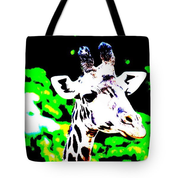 Abstract Giraffe Tote Bag