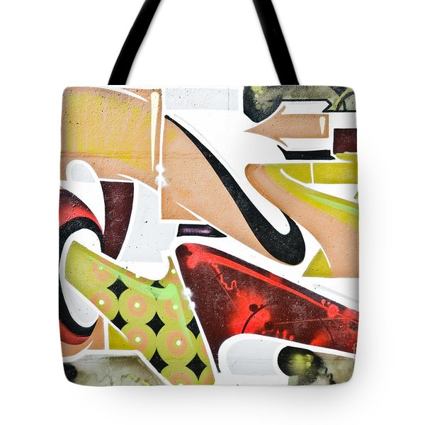Tote Bag featuring the painting Abstract Graffiti Art Wall by Yurix Sardinelly