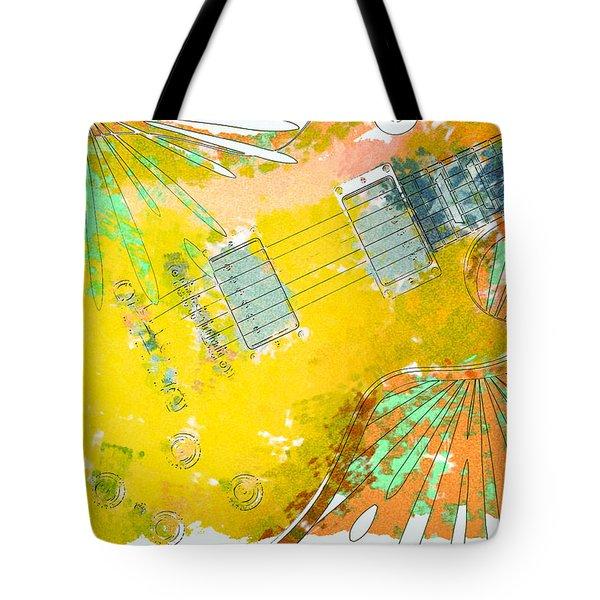 Abstract Guitar Tote Bag by David G Paul