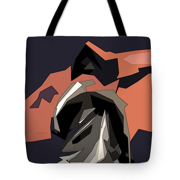 Abstract He Comes For Me Tote Bag by David Dehner