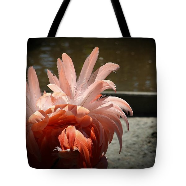 Abstract In Pink Tote Bag by Theresa Johnson