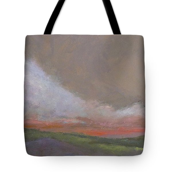 Abstract Landscape - Scarlet Light Tote Bag by Kathleen Grace