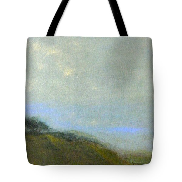 Abstract Landscape - Green Hillside Tote Bag by Kathleen Grace