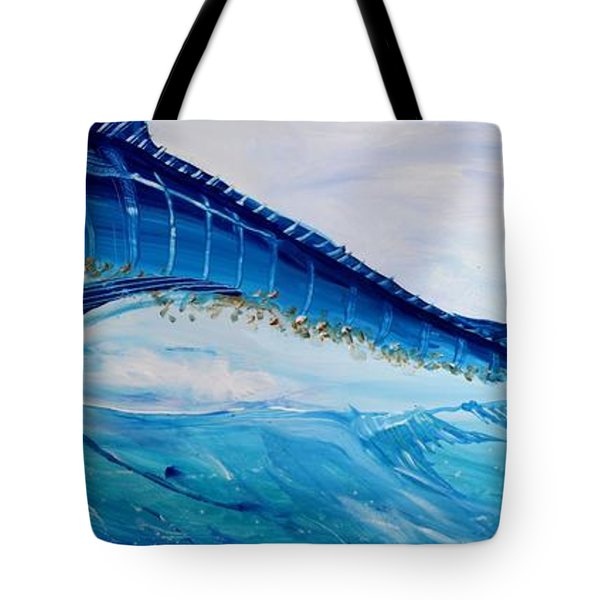 Abstract Marlin Tote Bag by J Vincent Scarpace