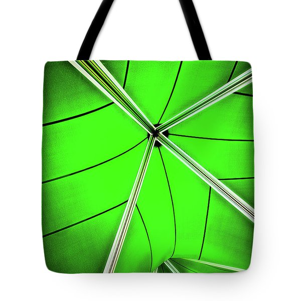 Abstract Of Green Tote Bag by Meirion Matthias
