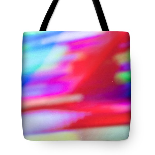 Abstract Oil Background Tote Bag by Tom Gowanlock