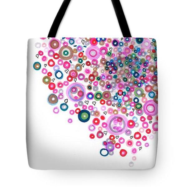 Abstract Pattern Valentine Tote Bag by Regina Valluzzi
