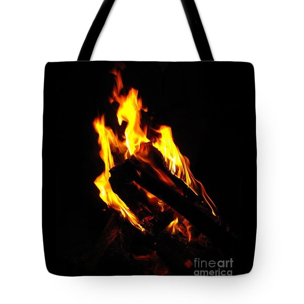 Abstract Phoenix Fire Tote Bag by Rebecca Margraf