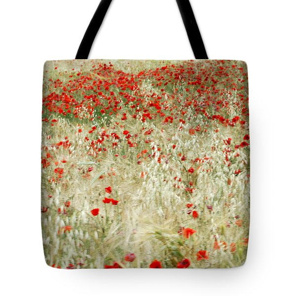 Abstract Poppies Tote Bag by Guido Montanes Castillo