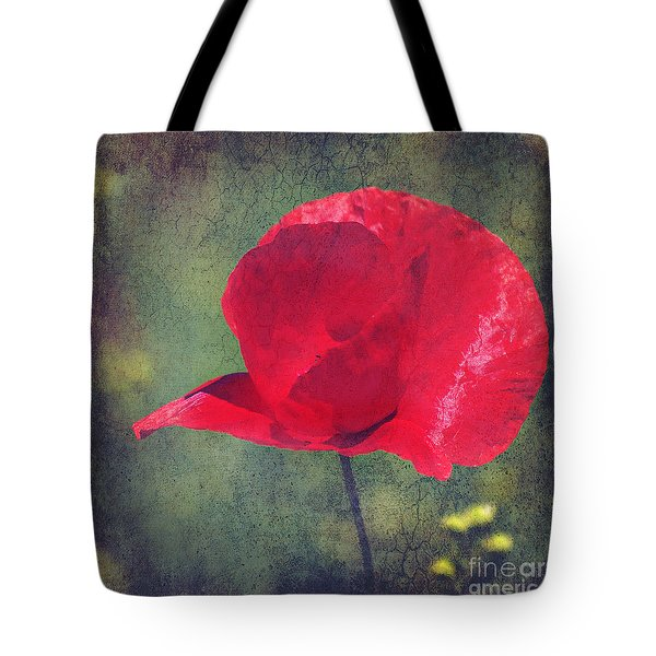 Abstract Poppy Tote Bag