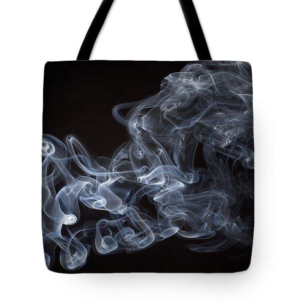 Abstract Smoke Running Horse Tote Bag by Setsiri Silapasuwanchai
