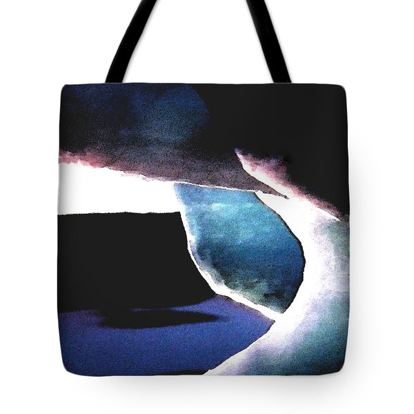 Abstract Snow Ice Tote Bag by Colette V Hera  Guggenheim