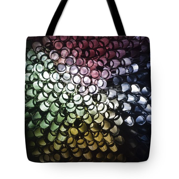 Tote Bag featuring the photograph Abstract Straws by Steve Purnell