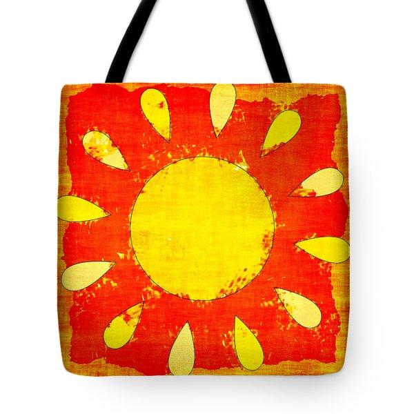 Abstract Sun Tote Bag by David G Paul