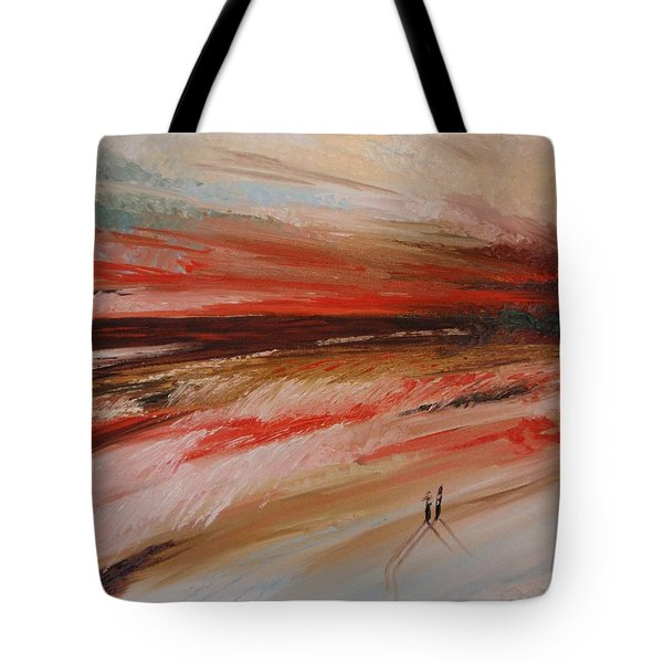 Abstract Sunset II Tote Bag by Tatjana Popovska
