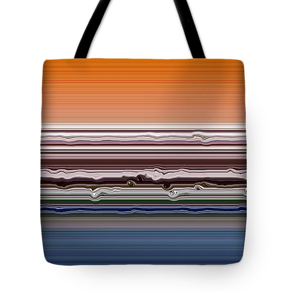 Abstract Sunset Tote Bag by Michelle Calkins