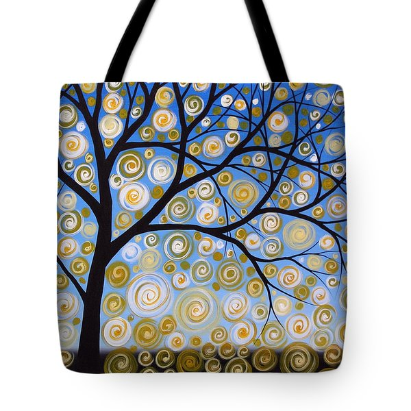 Abstract Tree Nature Original Painting Starry Starry By Amy Giacomelli Tote Bag