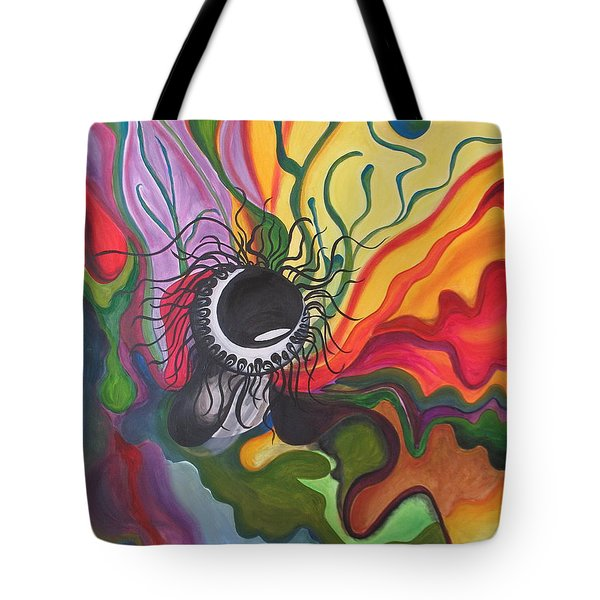 Abstract Underwater Anemone Tote Bag