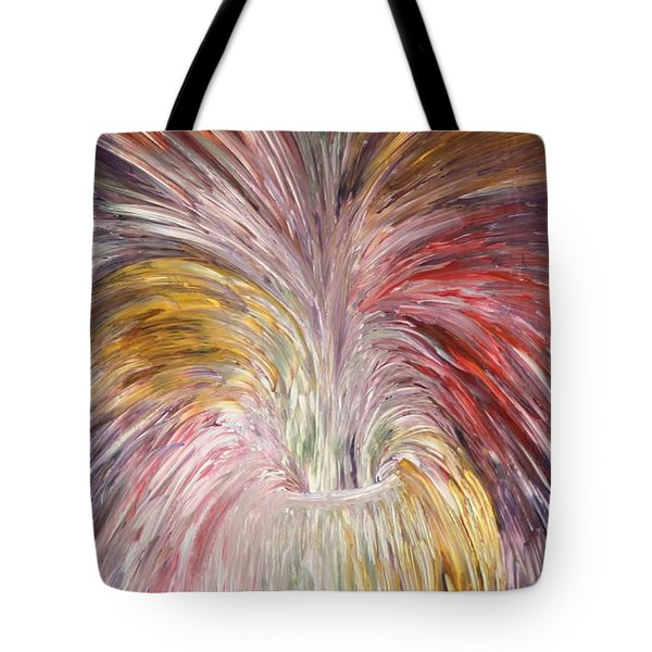 Abstract Vase And Energy Mouvement Tote Bag by Georgeta  Blanaru