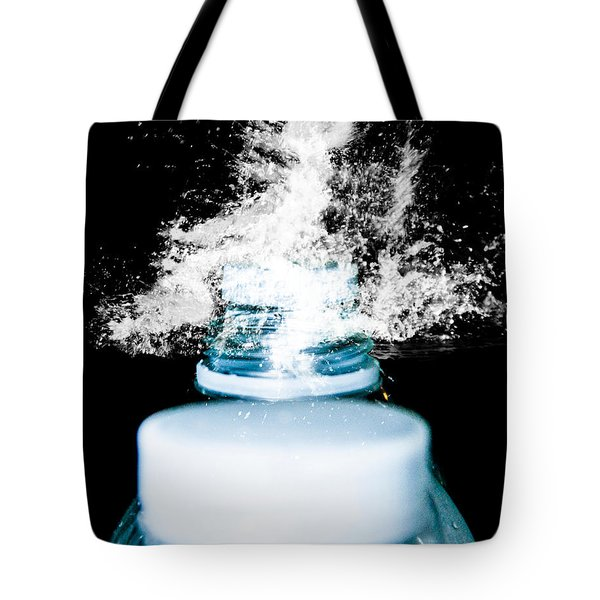 Tote Bag featuring the photograph Abstract Water Spill by Ester  Rogers