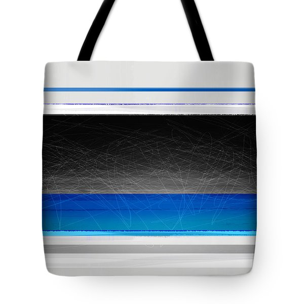 Abstract With Blue And Yellow  Tote Bag