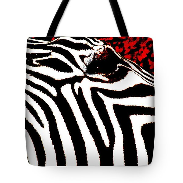 Abstract Zebra 001 Tote Bag by Lon Casler Bixby
