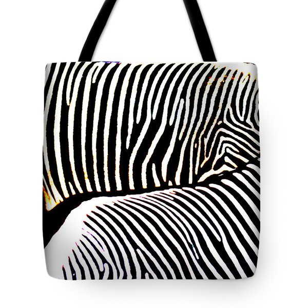 Abstract Zebra 002 Tote Bag by Lon Casler Bixby