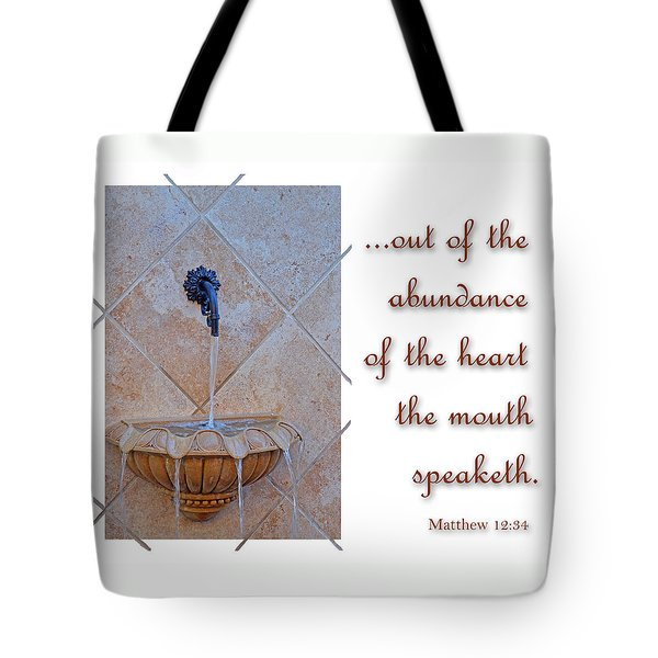 Abundance Of The Heart Tote Bag by Larry Bishop
