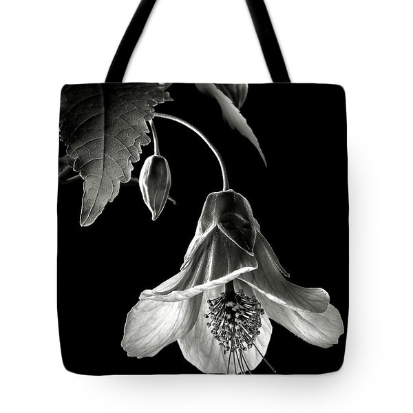 Abutilon In Black And White Tote Bag