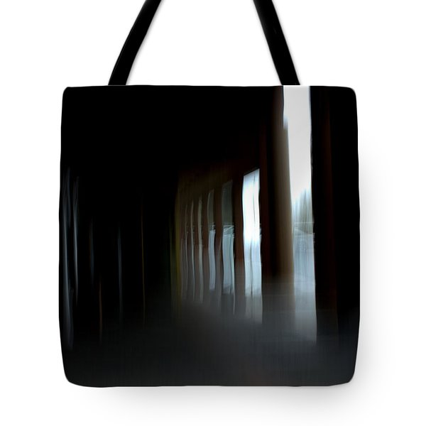 Tote Bag featuring the mixed media Abyss by Terence Morrissey