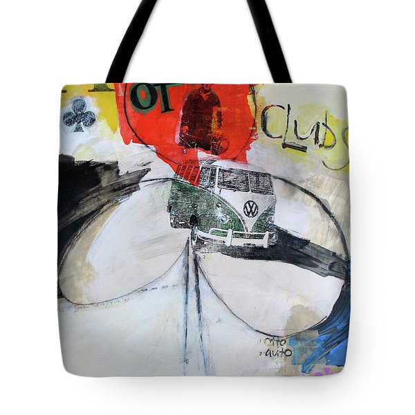 Tote Bag featuring the painting Ace Of Clubs 36-52 by Cliff Spohn