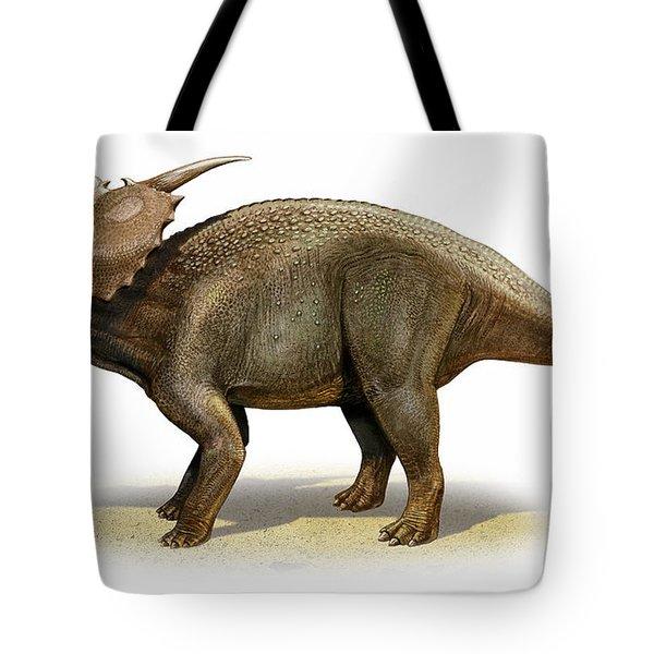 Achelousaurus Horneri, A Prehistoric Tote Bag by Sergey Krasovskiy