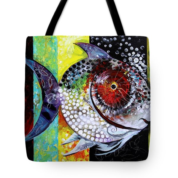 Acidfish 70 Tote Bag by J Vincent Scarpace