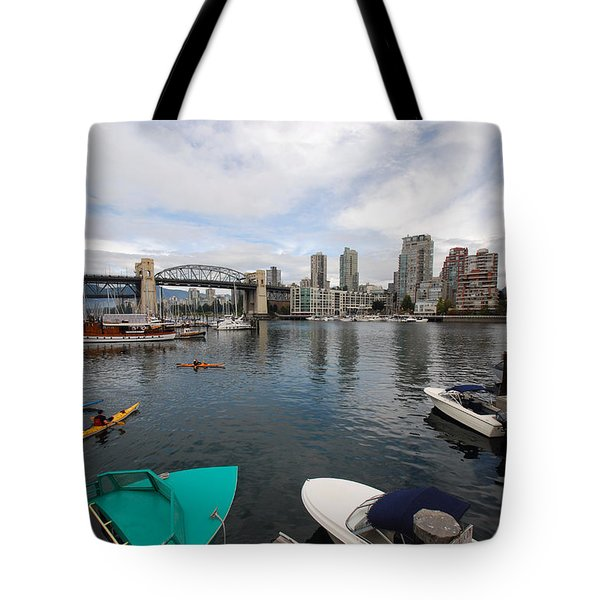 Tote Bag featuring the photograph Across False Creek by John Schneider