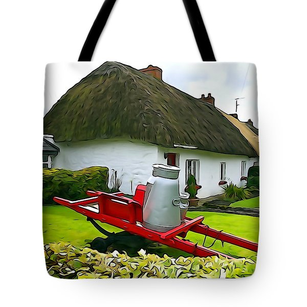 Tote Bag featuring the photograph Adare Cottage by Charlie and Norma Brock