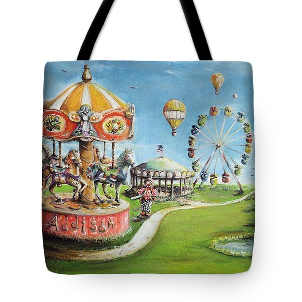 Tote Bag featuring the painting Carnival by Bernadette Krupa