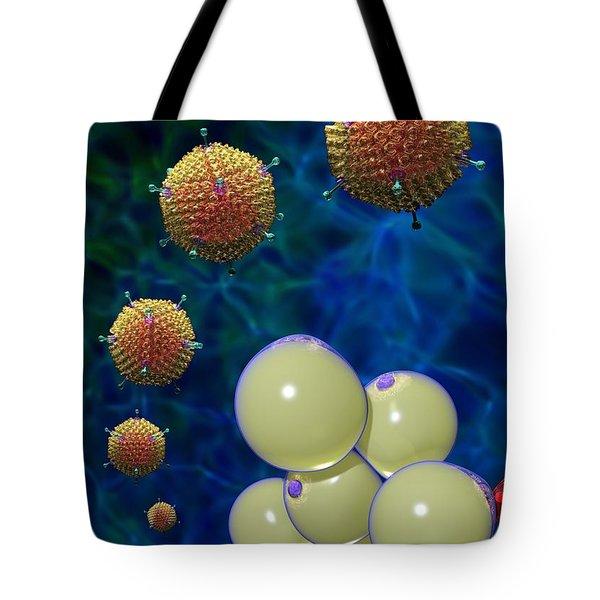 Adenovirus 36 And Fat Cells Tote Bag