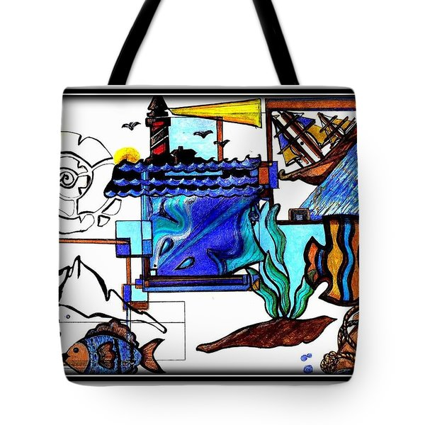 Tote Bag featuring the drawing Admiral by Danielle  Parent